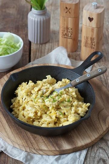 Rezept Eiernockerl mit grünem Salat