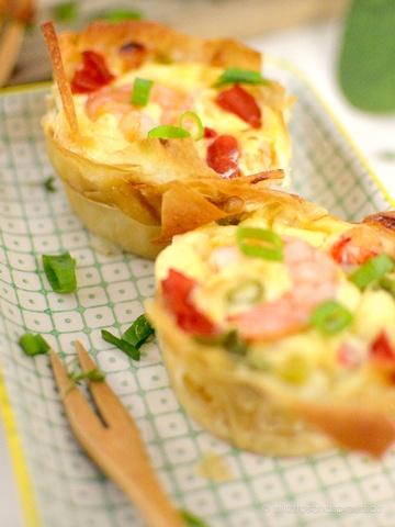 Rezept Einfache Shrimp-Mini-Quiches