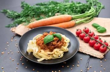 Rezept Einfache und vegane Linsenbolognese
