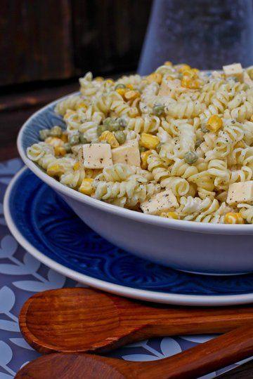 Rezept Einfacher Nudelsalat mit Mayonnaise und Creme Fraiche