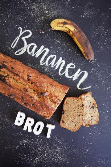 Rezept einfaches, gesundes Bananenbrot