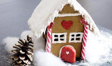 Rezept Einfaches Lebkuchenhaus mit Vorlage