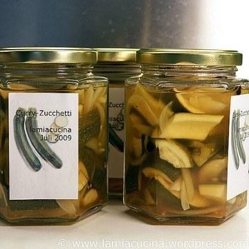 Rezept Eingelegte Curry-Zucchetti