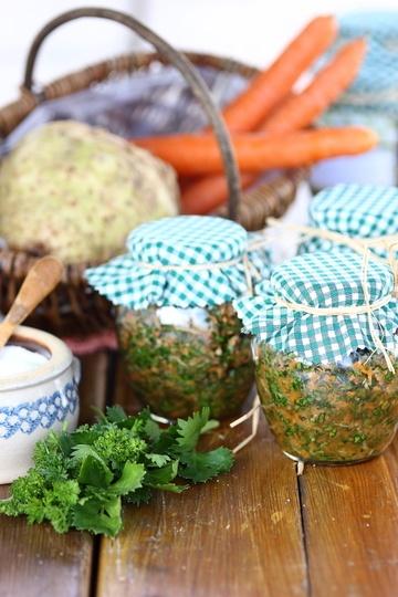 Rezept Eingesalzenes Suppengrün für Gemüsebrühe