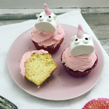 Rezept Einhorn-Cupcakes