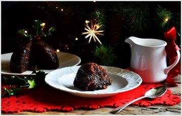 Rezept Englischer Weihnachtspudding (paleo-vegan) mit Brandy-Sauce