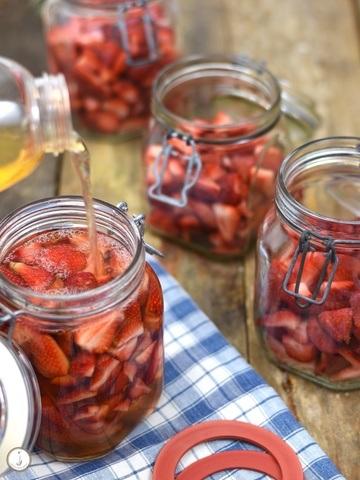 Rezept Erdbeer-Apfel-Essig
