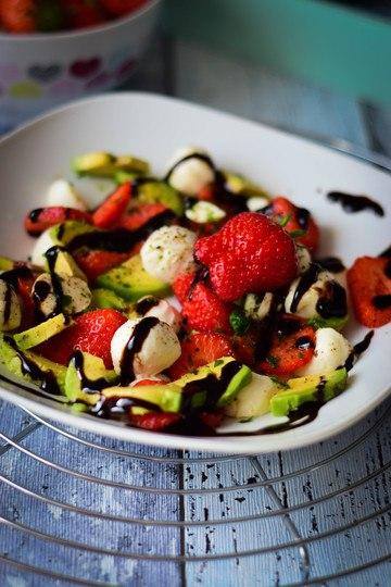 Rezept Erdbeer Avocado Salat