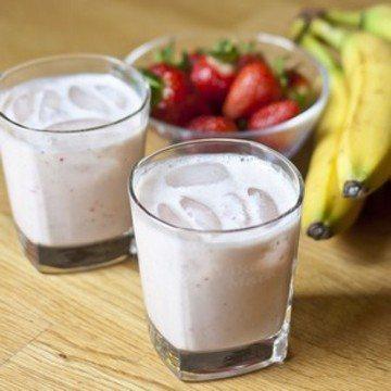 Rezept Erdbeer Bananen Milch
