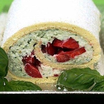 Rezept Erdbeer-Basilikum-Rolle