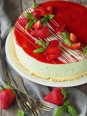 Rezept Erdbeer-Basilikum-Torte