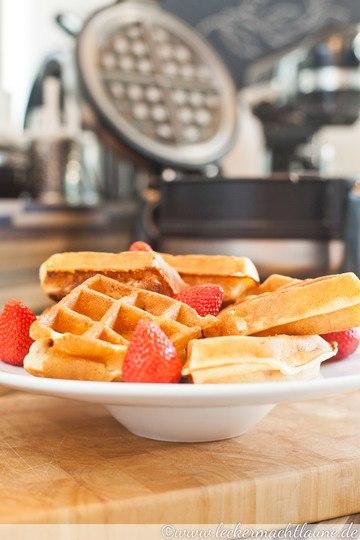 Rezept Erdbeer-Buttermilch-Waffeln