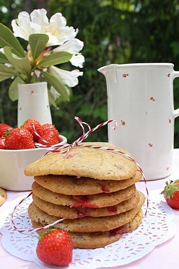Rezept Erdbeer Cookies