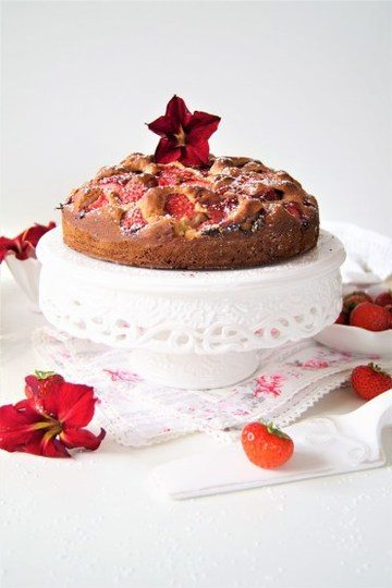 Rezept Erdbeer Dinkelvollkorn Kuchen