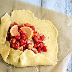 Rezept Erdbeer Galette