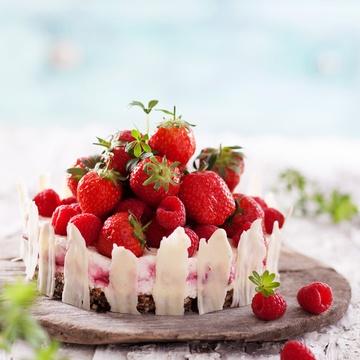 Rezept Erdbeer-Himbeer Käsesahnetorte