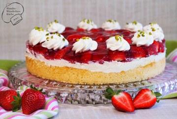 Rezept Erdbeer-Holunder-Torte