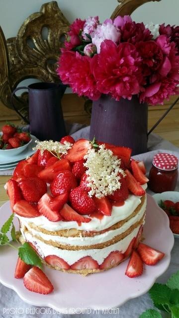 Rezept Erdbeer- Holunderblüten- Törtchen
