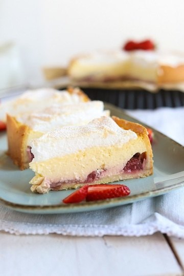Rezept Erdbeer-Käsekuchen mit Baiser