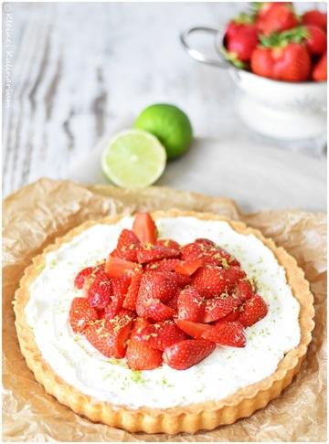 Rezept Erdbeer Limetten Tarte