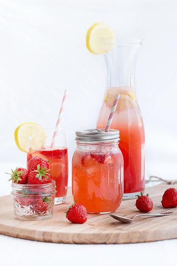 Rezept Erdbeer-Melonen-Limonade