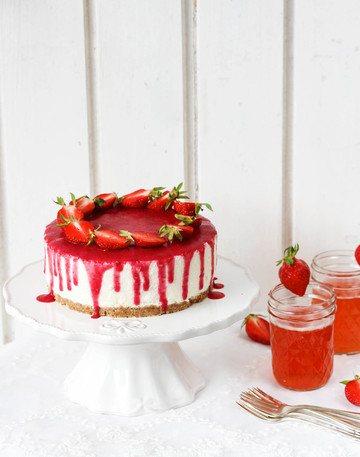 Rezept Erdbeer Nobake Joghurt - Törtchen