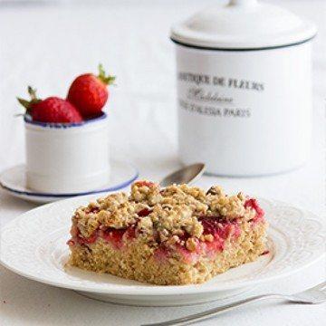 Rezept Erdbeer-Nuss-Streuselkuchen