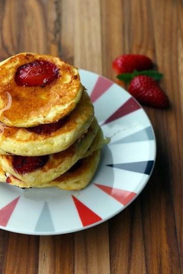 Rezept Erdbeer Pancakes