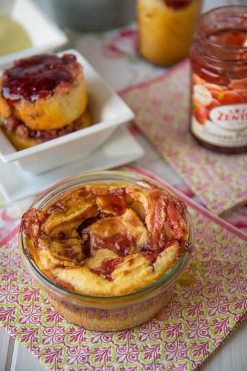 Rezept Erdbeer Quark-Grießkuchen im Glas
