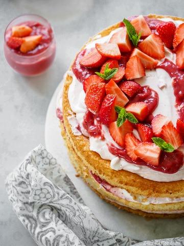 Rezept Erdbeer-Quark-Torte