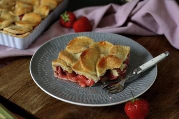 Rezept Erdbeer-Rhabarber-Pie & ein kleines Mürbeteig 1×1
