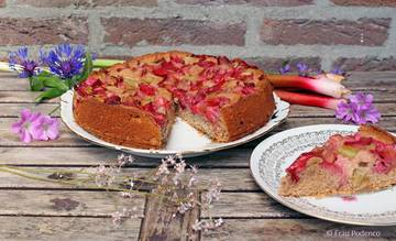 Rezept Erdbeer-Rhabarberkuchen