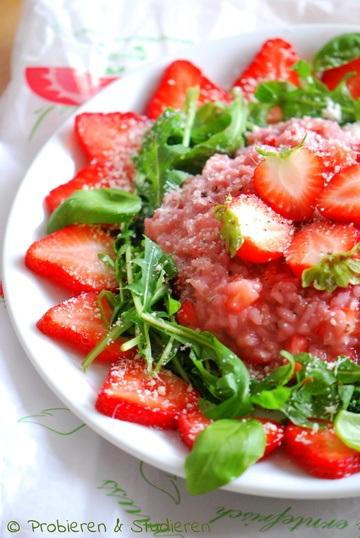 Rezept Erdbeer-Risotto mit Rucola und Parmesan