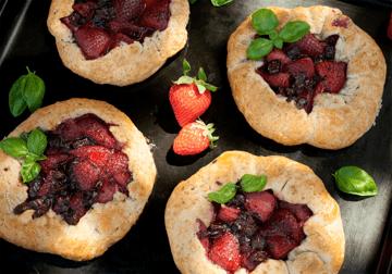 Rezept Erdbeer-Schoko-Galettes