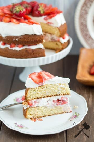 """Rezept Erdbeer """"Shortcake"""" Cake"""