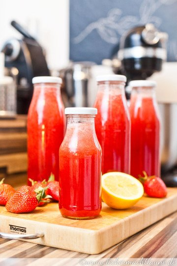 Rezept Erdbeer-Sirup