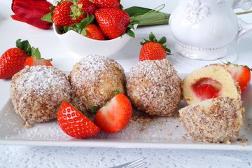 Rezept Erdbeer Topfenköndel