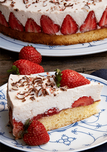 Rezept Erdbeer-Torte mit Joghurtcreme