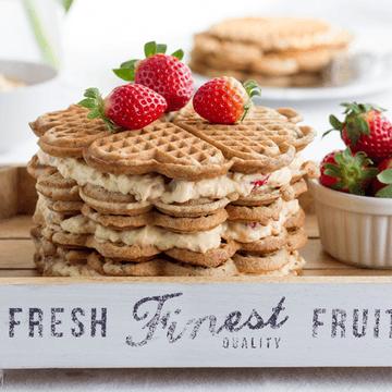 Rezept Erdbeer-Waffeltorte mit Eierlikörcreme