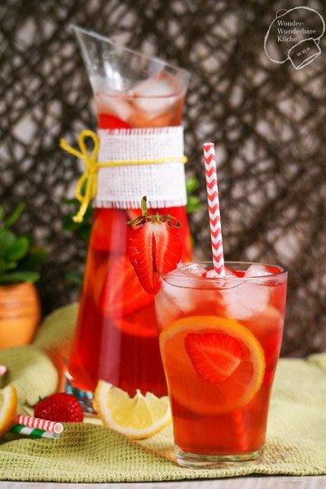 Rezept Erdbeer-Zitronen-Eistee