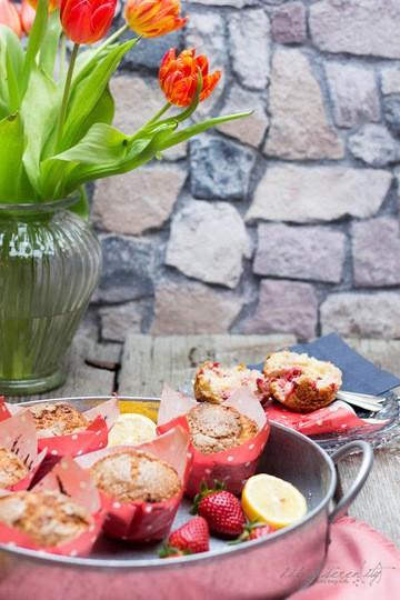 Rezept  Erdbeer-Zitronen Muffins