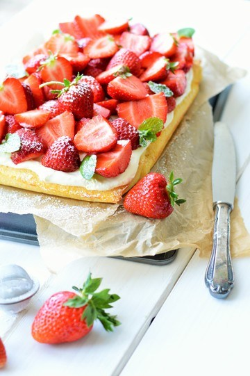 Rezept Erdbeere-Blondies