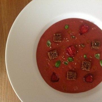 Rezept Erdbeergazpacho