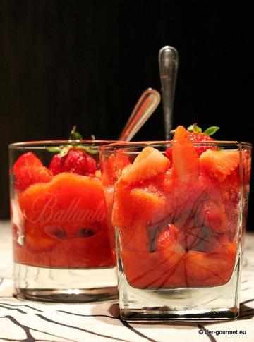 Rezept Erdbeergranita mit Aperol