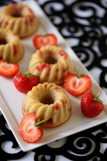 Rezept Erdbeergugls mit Amaretto