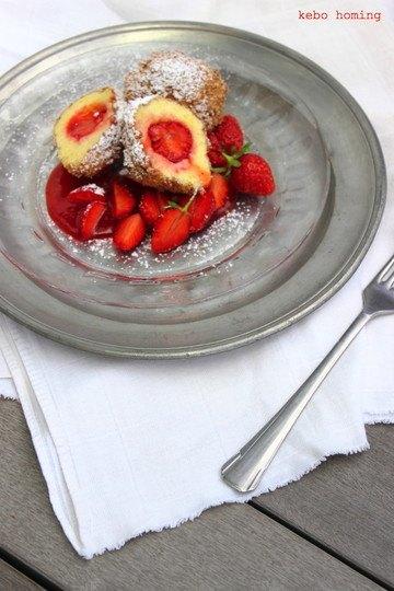 Rezept Erdbeerknödel mit Zimtbrösel