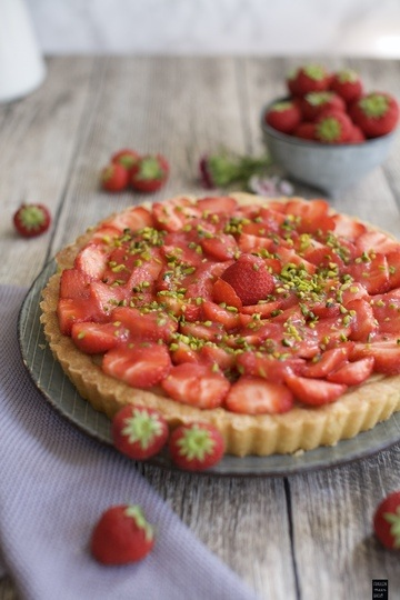 Rezept Erdbeertarte mit Frischkäse