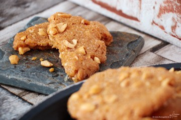 Rezept Erdnussbutter Cookies – nussig, knackig, lecker!