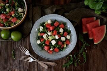 Rezept Erfrischender Melone-Avocado-Feta-Salat