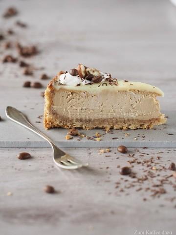 Rezept Espresso-Cheesecake mit Haselnuss und weißer Schokolade